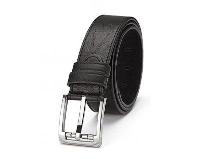 Pánský kožený opasek černý ModexaStyl 5014-1