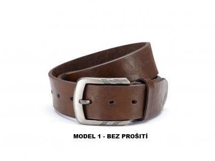 Pánský kožený opasek hnědý ModexaStyl 5017 2 BEZ