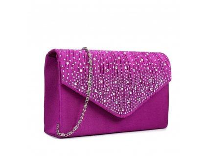 Večerní kabelka psaníčko Miss Lulu LY1682 PE fialová (4)