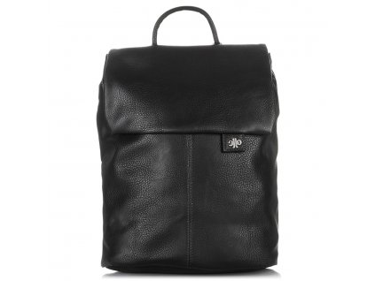 Módní dámský kožený batoh černý Jennifer Jones 3125
