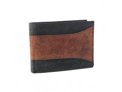 pánská kožená peněženka Wild N992 SAF Brown Black (9)