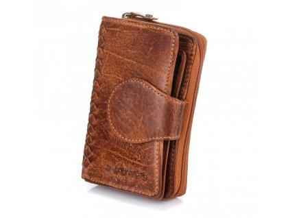 Dámská kožená peněženka hnědá J.JONES 5625 BN (22)