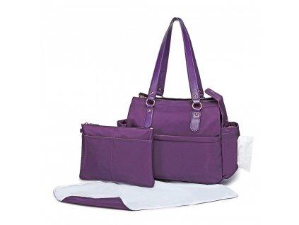 Mateřská přebalovací taška na kočárek fialová LT6852 PE (1)