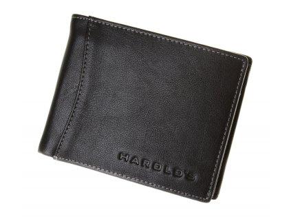 Pánská kožená peněženka černá harolds 5544 (2)