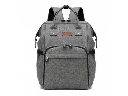 Mateřský přebalovací batoh na kočárek Kono E6705 GY šedý (3)
