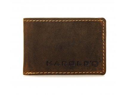 Malá pánská kožená slim peněženka Harolds 5477 hnědá (2)
