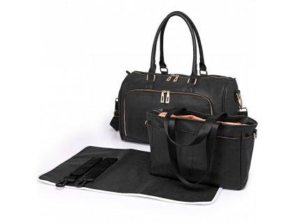 Mateřská taška na kočárek sada šerná LT6638 BK Miss LuluLT (1)