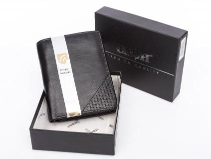 Pánská kožená peněženka černá Cash 5640 rfid (2)