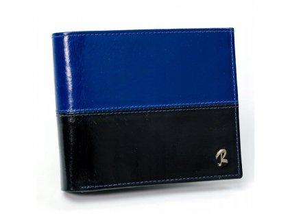 Pánská kožená peněženka Rovicky černo modrá N992 VT2 ModexaStyl (2)