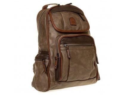 Dámský kožený batoh hnědý YGC 536 (4)