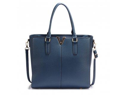 Dámská kabelka do ruky a přes rameno modrá Anna Grace AG00420 NAVY (2)