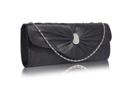 Večerní kabelka psaníčko černé LSE0067 BK (2)
