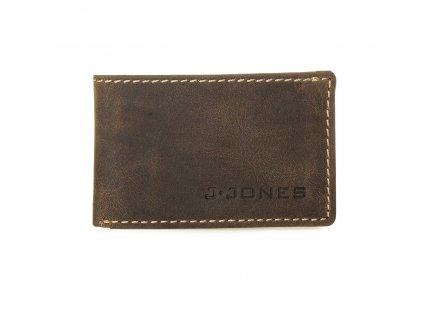 Malá slim kožená peněženka Jennifer Jones 5493 hnědá (2)
