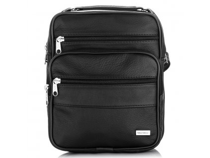 Pánská kožená taška přes rameno paolo peruzzi b06 černá (1)