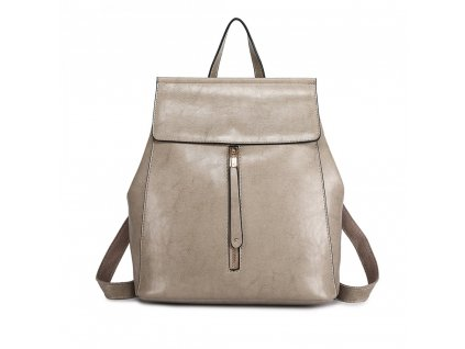 Dámský kožený batoh a kabelka přes rameno 2v1 šedý Miss Lulu E6833 (1)