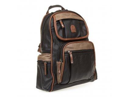 Dámský kožený batoh černý YGC 536 (3)