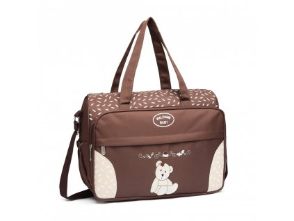 Mateřská přebalovací taška Kono hnědá 08190 (1)