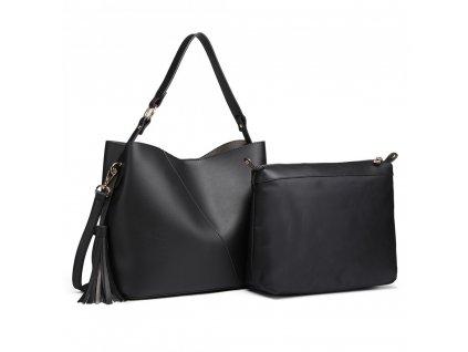 Sada kabelek kabelka do ruky a přes rameno Miss Lulu černá LT6862 (3)