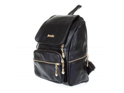 Dámský kožený batoh Gil Bags černý 2011 01 (6)