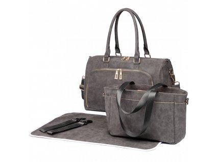 Mateřská taška na kočárek sada tmavě šedá LT6638 Miss Lulu (4)