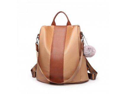 Dámský batůžek Miss Lulu hnědý LG1903 BN (5)