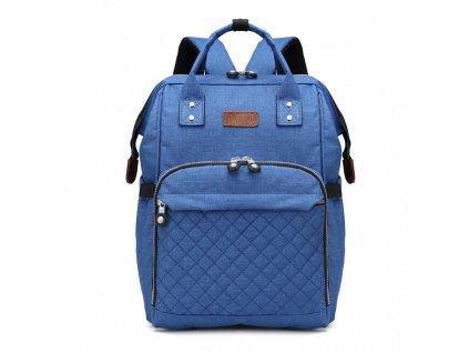 Mateřský přebalovací batoh na kočárek Kono E6705 BE modrý (2)