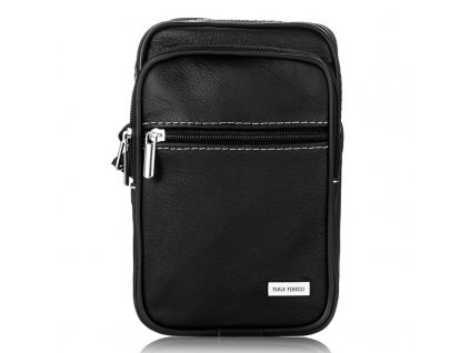 Malá pánská kožená taška přes rameno Paolo Peruzzi B 03 (1)