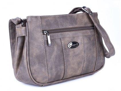 Malá kabelka přes rameno šedo hnědá Bag Street 3018 2 ModexaStyl (3)