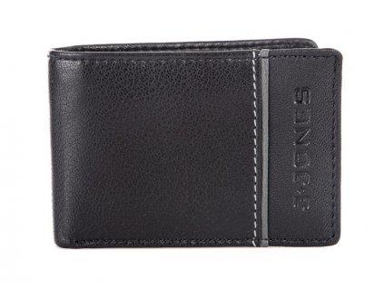 Malá pánská kožená peněženka černá šedá Jennifer Jones 5318 BE (2)