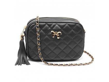 Malá kabelka přes rameno crossbody černá Anna Grace AG00540 BK (2)