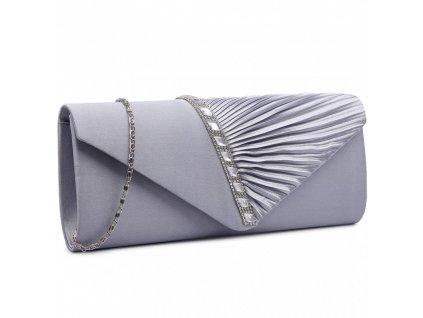 Večerní kabelka psaníčko Miss Lulu šedé LY6682 GY (3)