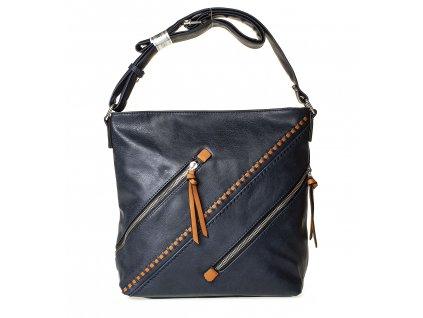 Crossbody kabelka přes rameno tmavě modrá Paula Rossi 182 1 NY (2)