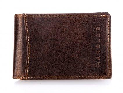 Malá pánská kožená slim peněženka Harolds 5531 hnědá (2)