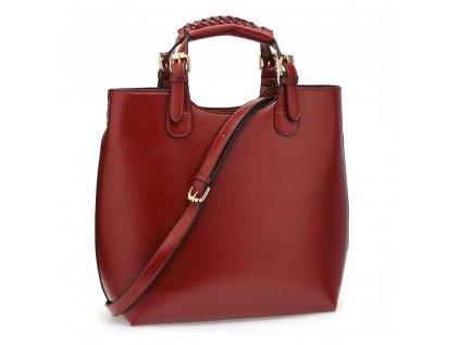 Kabelka shopper bag Anna Grace AG00267 vínová (2)