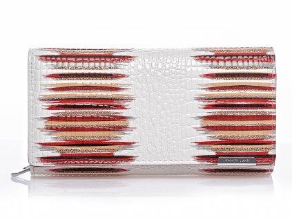Dámská kožená peněženka červeno bílá Jennifer Jones 5288 (2)