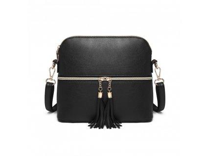 Elegantní kabelka přes rameno crossbody Miss Lulu LB1938 BK černá (2)