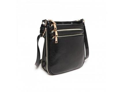 Crossbody kabelka přes rameno LB1939 BK Miss Lulu černá (7)