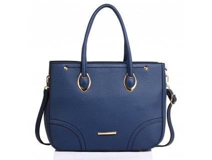 Elegantní kabelka do ruky a přes rameno modrá Anna Grace AG00515 NY (2)