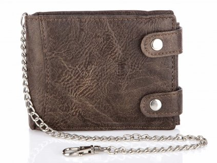 Pánská kožená peněženka s řetízkem Wild 1140 BN hnědá (2)