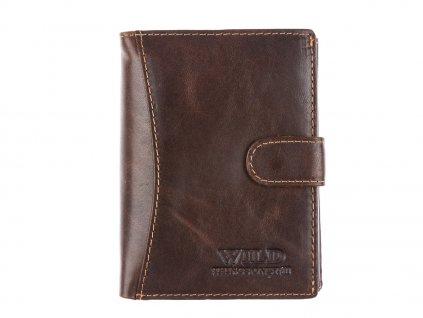 Pánská kožená peněženka Wild 5502 hnědá ModexaStyl (3)