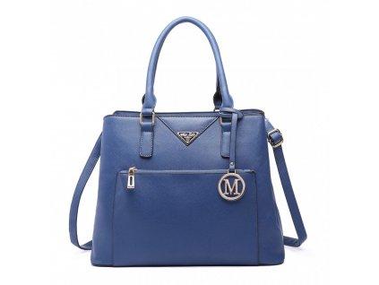 Elegantní dámská kabelka do ruky a přes rameno modrá LT6611 NY Miss Lulu (3)