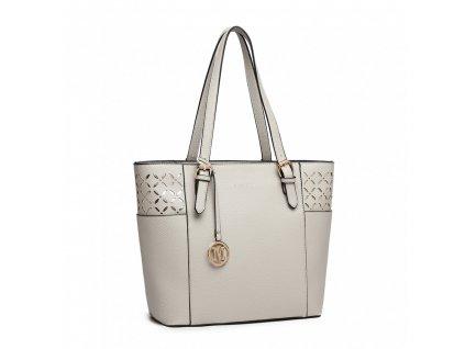 Velká dámská kabelka Miss Lulu šedá LG1943 GY (3)