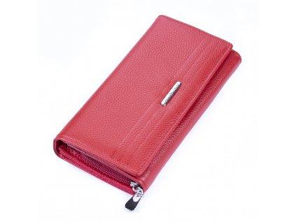 Dámská kožená peněženka Jennifer Jones 5274 červená (11)
