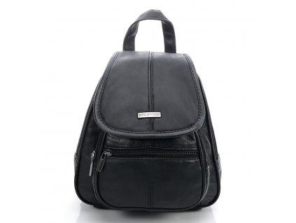 Dámský kožený batůžek černý Bag Street 6625 (1)