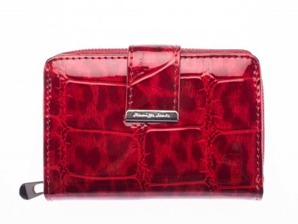 Malá dámská kožená peněženka 5198 3 červená Jennifer Jones (2)