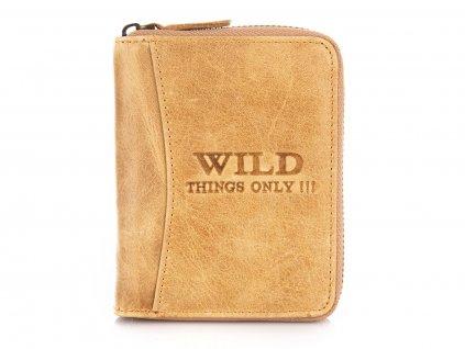 Pánská kožená peněženka na zip Wild koňaková hnědá 5508 ModexaStyl (2)