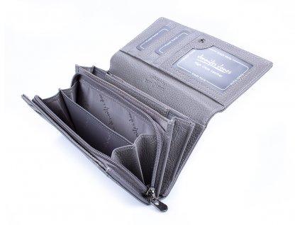 Dámská kožená peněženka Jennifer Jones 5274 šedá (4)