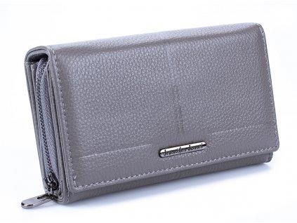 Prostorná dámská kožená peněženka Jennifer Jones 5375 šedá ModexaStyl (2)
