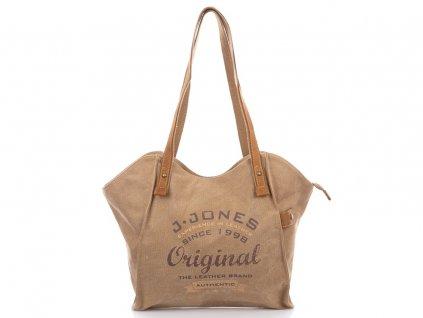 Velká dámská kabelka přes rameno Canvas 4557 hnědá Jennifer Jones (2)
