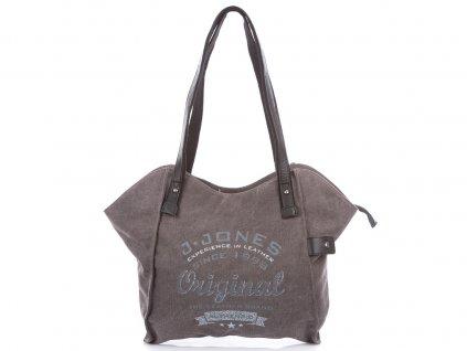 Velká dámská kabelka přes rameno Canvas 4557 šedá Jennifer Jones (2)